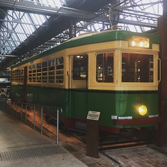 Vintage tram sets the mood at the new Tramsheds dining precinct at Harold Park in Sydney.