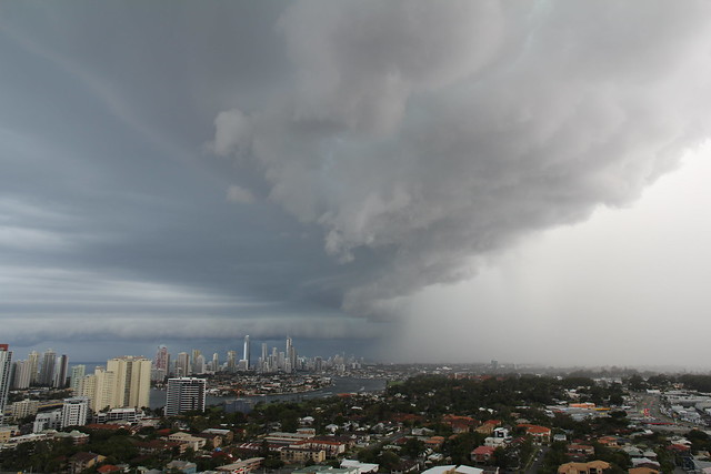 Storm hitting the Gold Coast