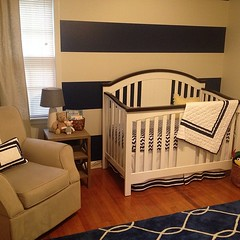 @aimee_farmer did an incredible job on the nursery!! Props to @lesliedford for painting, and for everyone who got us baby stuff.
