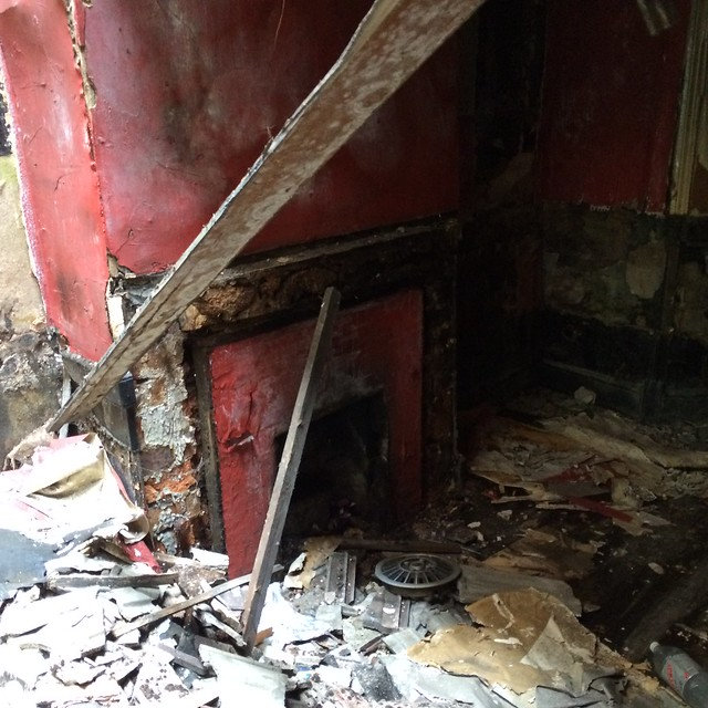 The old fire place