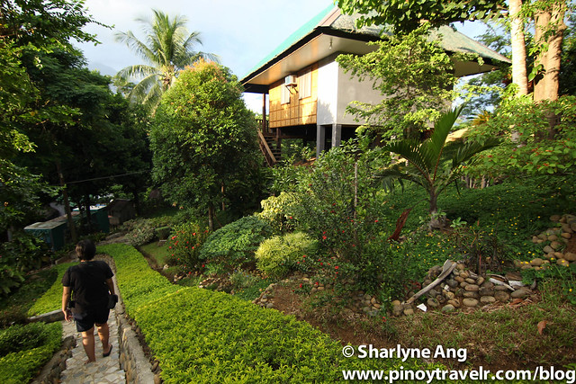 Rooms and Pathway at Sanctuary Garden Resort in Sibuyan
