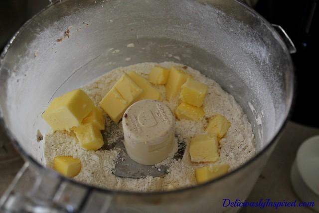 6-22-14-Peach Cobbler-butter into flour