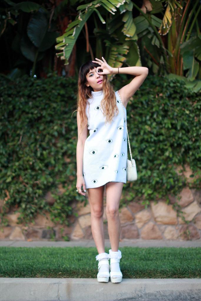Choies Eyeball Dress, Lily Platform Sandals