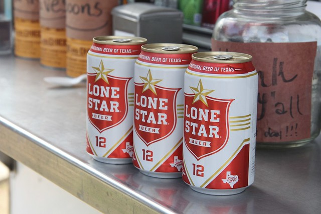 Lone Star beer goes perfect with Barbecue