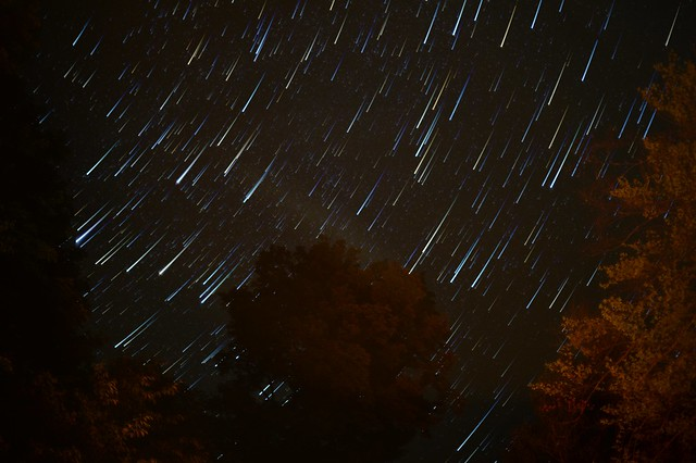 Falling Stars at Brown Tract Pond, Raquette Lake, N.Y.