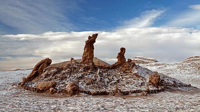 Eroded rock pinnacles - Valle de la Luna, San Pedro de Atacama, Chile