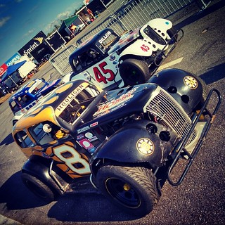 Ready for practice at @nhmotorspeedway #NELCAR #uslegends #inex #8 #HooliganMotorsports #racing #racecar #45 #399