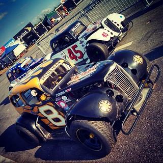 Ready for practice at @nhmotorspeedway #NELCAR #uslegends #inex #8 #HooliganMotorsports #racing #racecar #45 #399