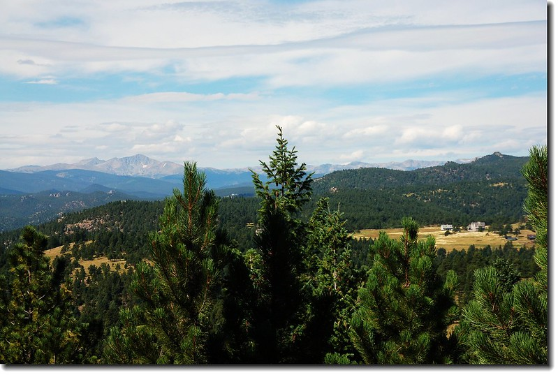 Indian Peaks as seen from Green Mt. view to West 1
