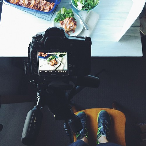 Standing on chairs, because little. Also, love love love my tripod.  #behindthescenes #vscocam #vsco #foodphotography