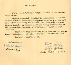 VI/7.j. Nyilatkozat. Czinczár Marika a gettósítás elöl tanyára való kijuttatásának szándéka.