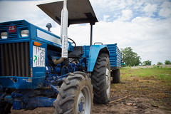 One of the tractors that Prisoners Without Borders has bought for the Saliakro Farm project in Côte d'Ivoire. Learning to use modern machinery was an important step in the programme. Credit: Marc-André Boisvert/IPS