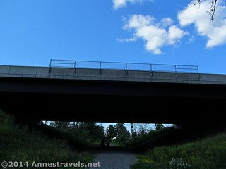 The I-90 overpass over the Genesee Valley Greenway, south of Rochester, New York