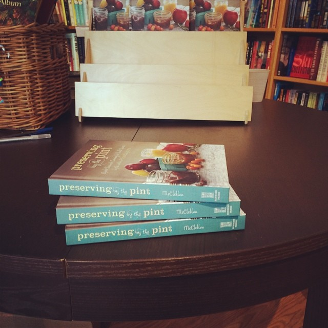There are three signed and typo-corrected copies of Preserving by the Pint at Main Point Books! Go get 'em!