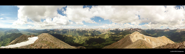 Panoramic view from Gothic Mountain (3,850 m)