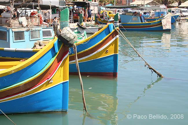 Barcas en Marsaxlokk. © Paco Bellido, 2008