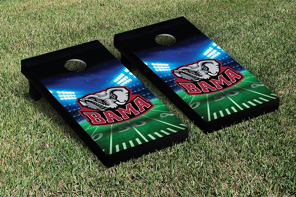 Alabama Crimson Tide Cornhole Game Set Stadium