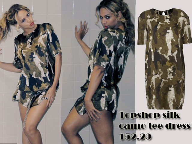 Topshop-silk-camo-tee-dress, silk camouflage patterned dress, silk camo tee dress, camouflage tee dress, camouflage t-shirt dress, camouflage dress, silk camouflage dress, Military pattern dress, Military dress, Military pattern tee dress, Military pattern t-shirt dress