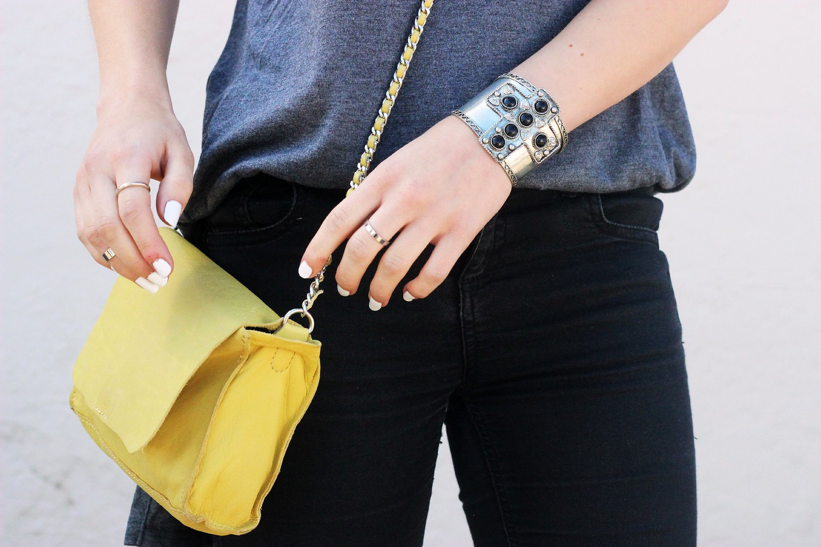 Zara leather yellow bag 5