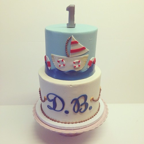 Nautical birthday cake #polkadotscupcakefactory