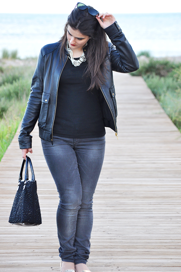5 outfit ideas running late, fashion blogger advice, how wear jeans blazer flats, valencia spain blog something fashion