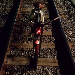 Night train. #ghostrider #redlight #bike #jct #crosstowntraffic