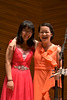 Huan Li and Qing Yu Chen of the Aspen Piano Trio
