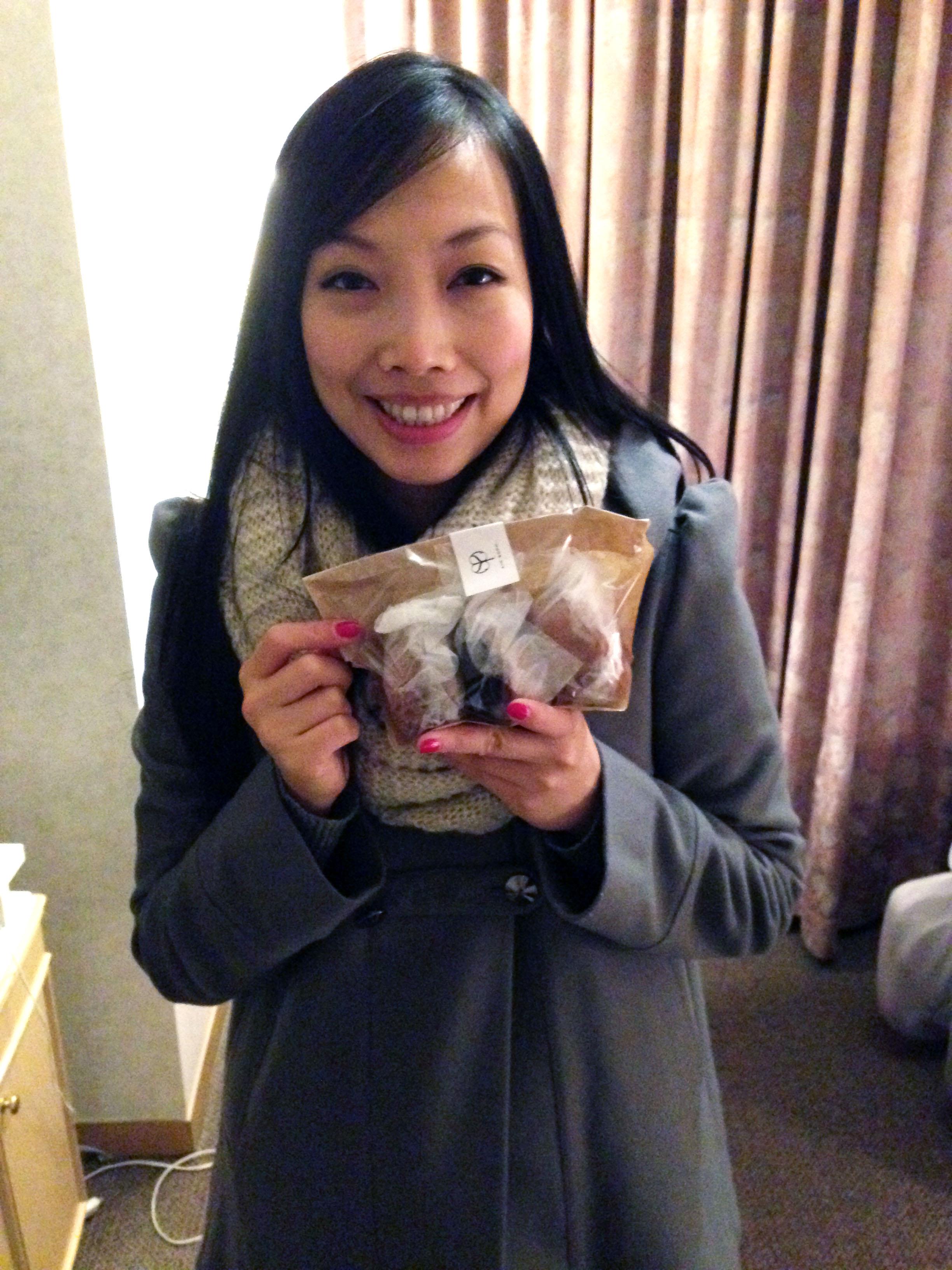 Keren with Vegan Donuts