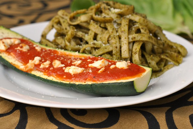 Goat Cheese and Marinara-Stuffed Zucchini 4