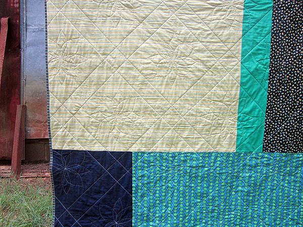 Cobblestones quilt finish
