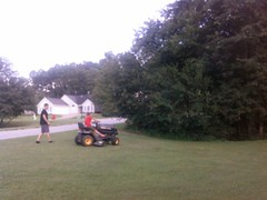 Dan doesnt have to cut grass anymore haha