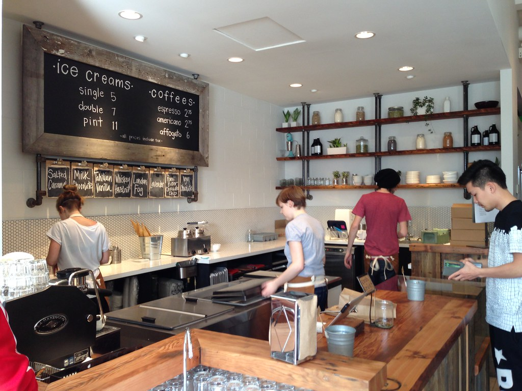The Interior of Earnest Ice Cream
