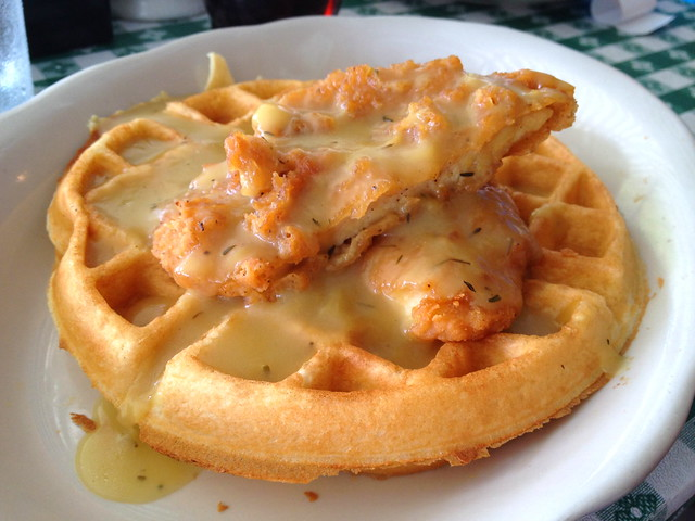 Chicken & Waffle with Thyme Gravy