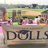 College Savings Dolls booth at the Relay for Life, 8-1-14 @ Chicagoland's Schaumburg 2013 Champion Boomer's minor league baseball team. Deanna & Jessica meet some wonderful people! #dolls #futuredoll #bodyimage #chicago #csd #clt #education #boomer #boome