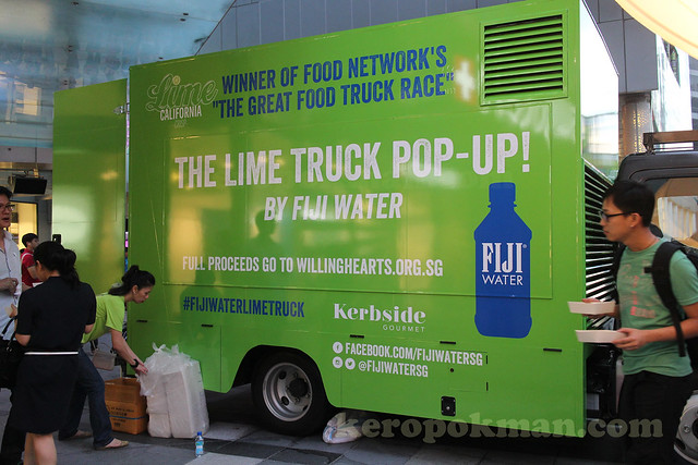 FIJI Water Lime Truck