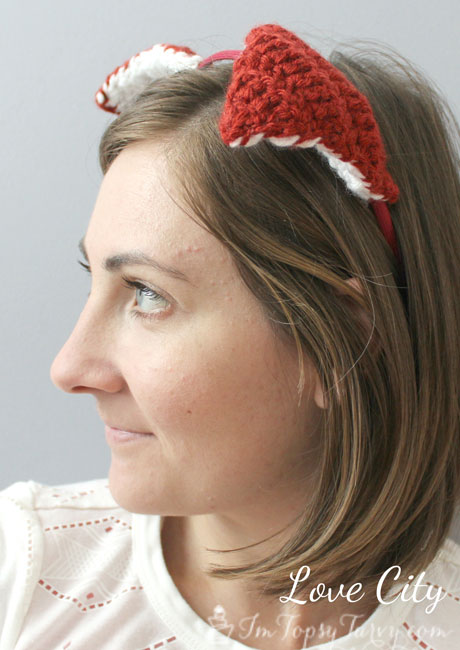 crochet fox ear headband pattern