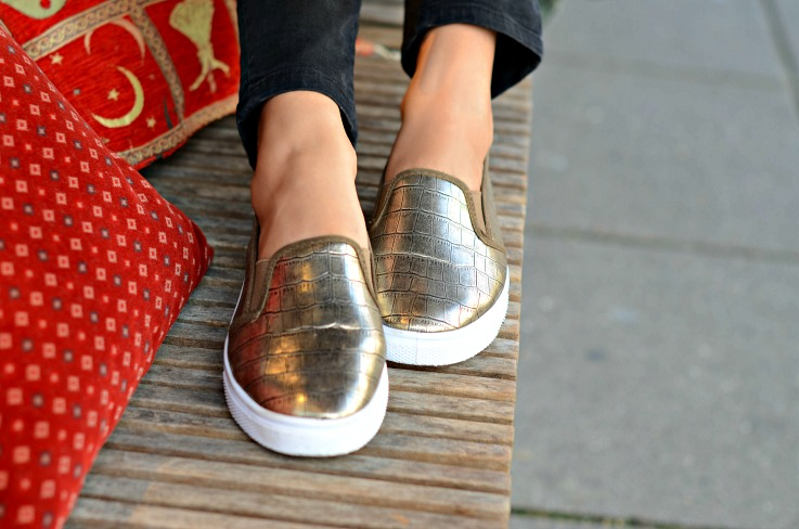 DSC_3728 Gold Slip on Sneakers, Elise Store