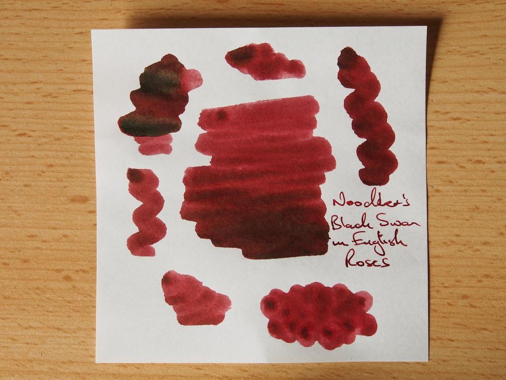Noodler's Black Swan in English Roses - Shading