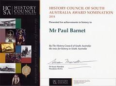 History Council of SA Nomination 2014