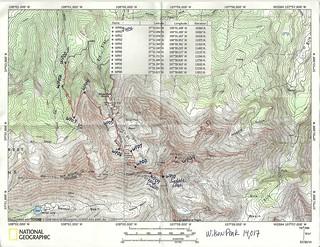 Wilson Peak Topo Map With Waypoints