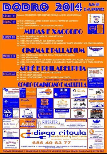 Dodro 2014 - Festas de San Campio - cartel
