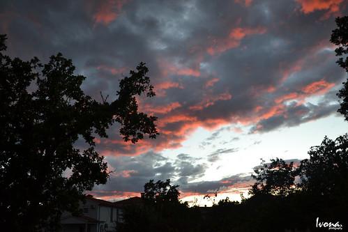 pink sunset summer sky clouds nikon cloudy croatia rijeka nikond3100
