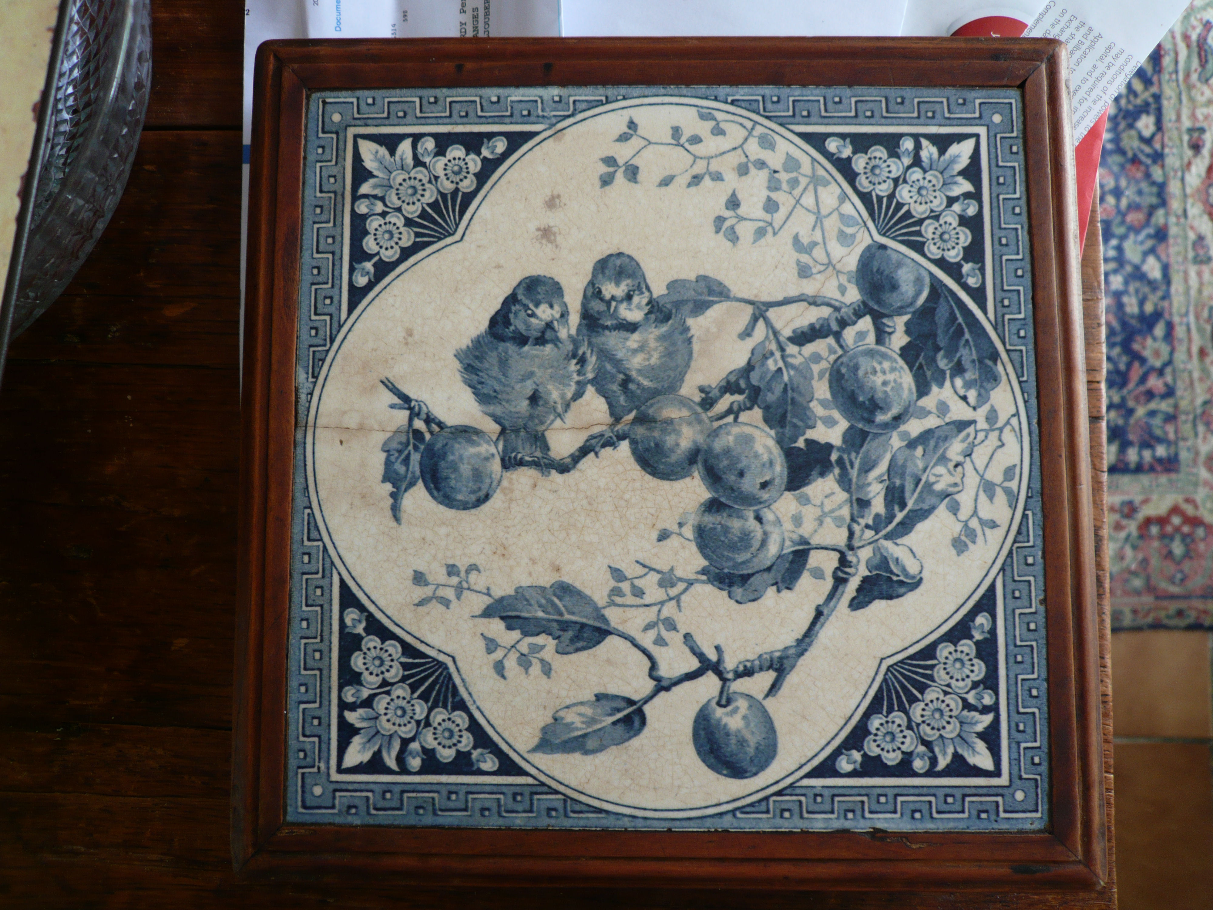 Birds and Plums Teapot Stand