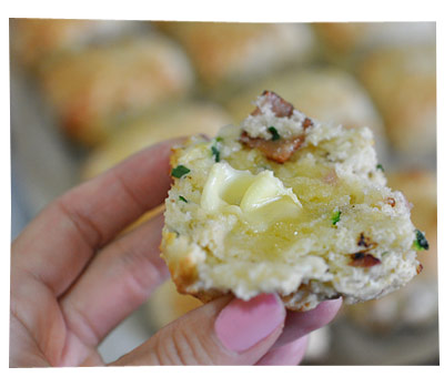 Simple Cheese and  Bacon Scones
