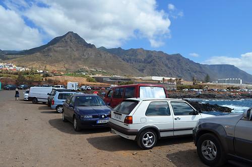 Parking by the beach, Punta del Hidalgo, Tenerife