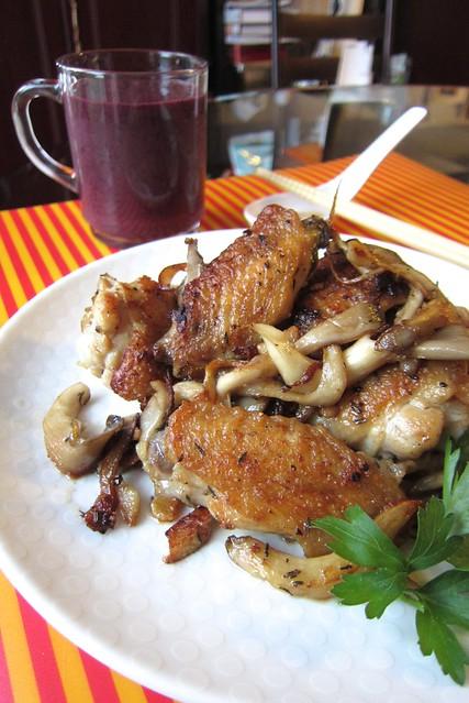 chicken wings w/ mushroom 1408