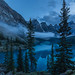 Late evening at Moraine lake. by Josiane .