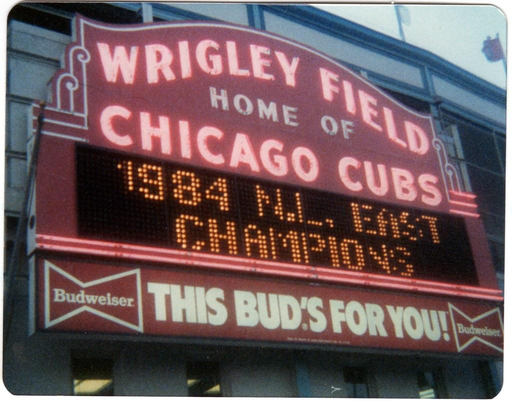 wrigley field 1985