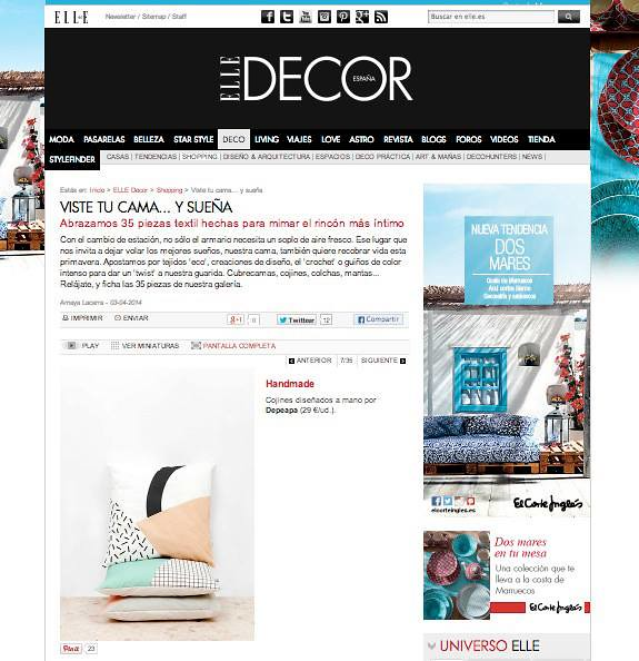 Depeapa en Elle decor