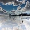 Reflective skyline #tenby